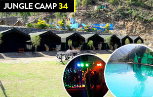 Jungle Camp 34 - Camp in Shivpuri with DJ and Swimming Pool